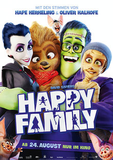 Home happy family plakat